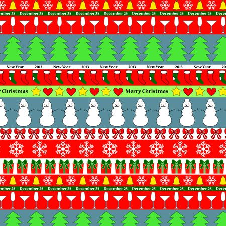 Colorful christmas striped seamless background Stock Vector - 15879777