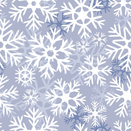 Lilac snowflakes seamless pattern Vector