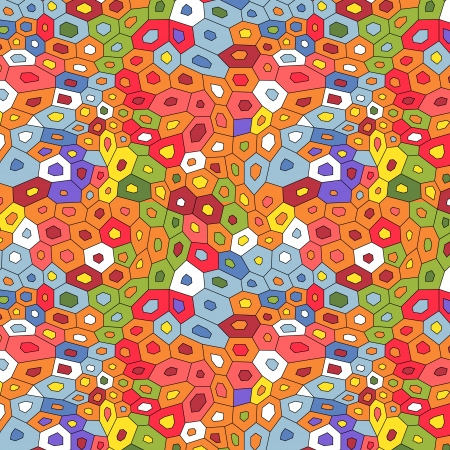 Colorful abstract mosaic seamless pattern, vector Stock Vector - 16267108