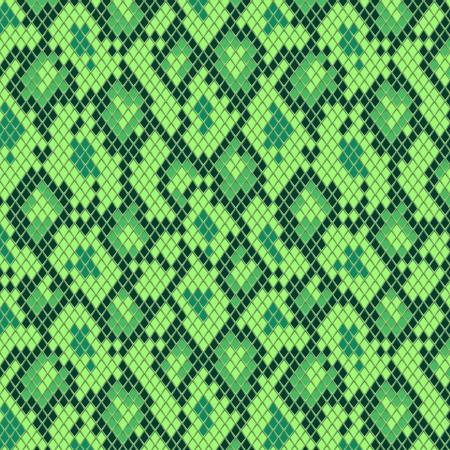 couleur de peau: Peau de serpent en vert mod�le, seamless vecteur