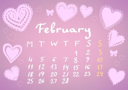 February 2013 calendar sheet Stock Vector - 17098210