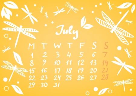 July 2013 calendar sheet Stock Vector - 17239661