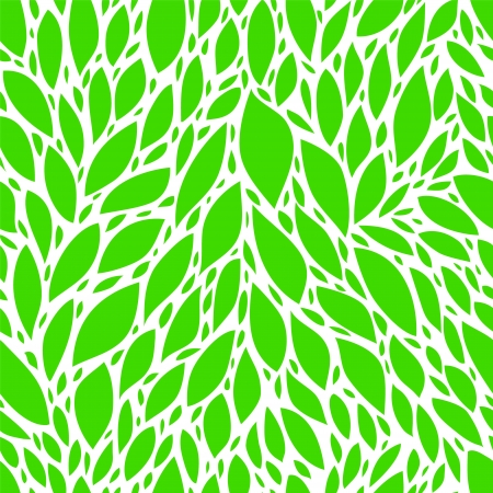 Green spring leaves seamless pattern, vector Stock Vector - 17433447