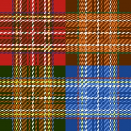 Classic scottish tartan fabric seamless pattern Vector