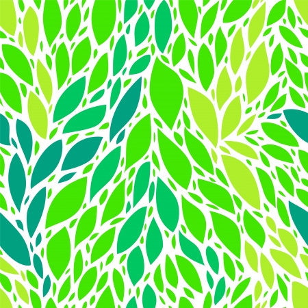 Fresg green spring leaves seamless pattern Stock Vector - 17755453