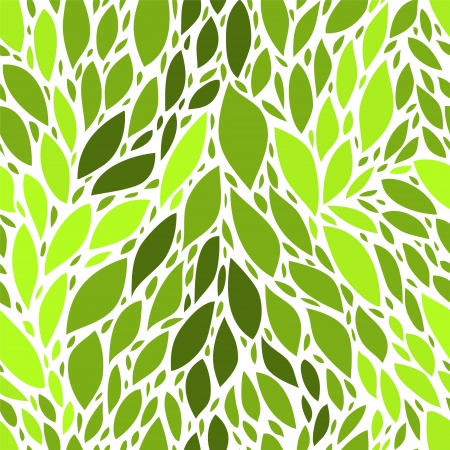 Fresh green leaves seamless pattern Stock Vector - 17872540
