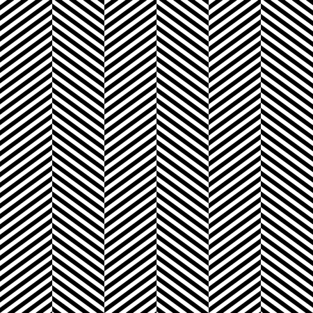 Black and white herringbone fabric seamless pattern Vector