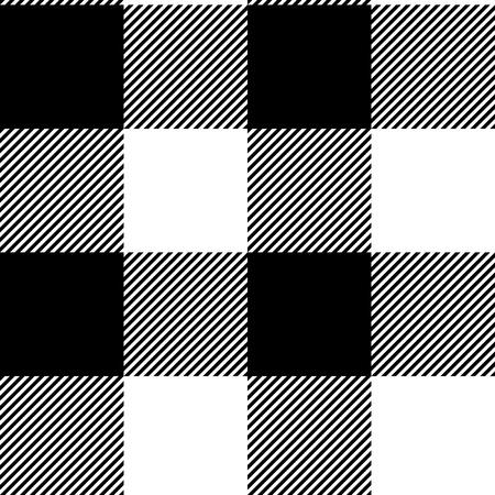 A scacchi bianco e nero semplice tessuto seamless, vettore