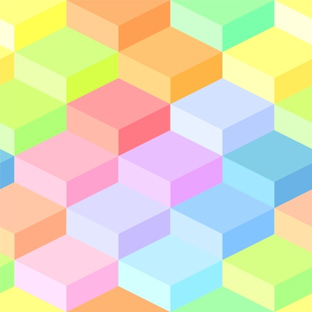 Abstract geometric colorful seamless pattern, vector Vector