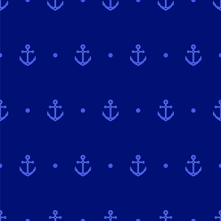 Anchor and dot in navy blue seamless pattern Vector