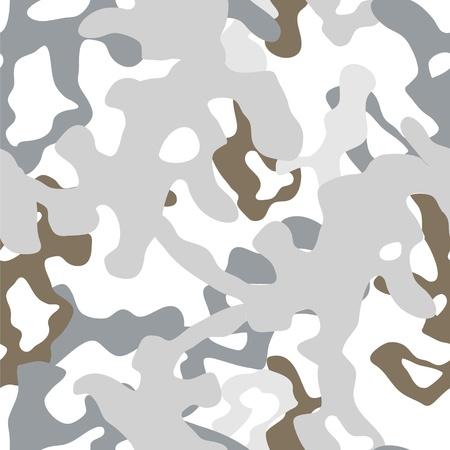 undercover: Militare inverno bianco camouflage seamless, vettore