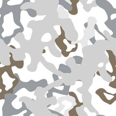Military winter white camouflage seamless pattern, vector
