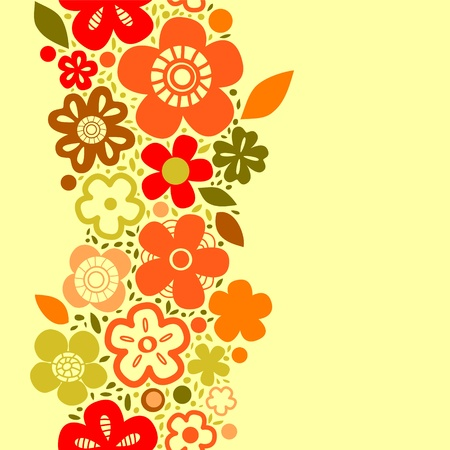 Spring bright floral seamless pattern on yellow Stock Vector - 18128049