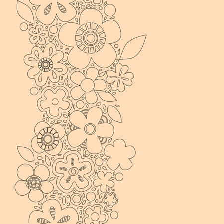 Spring floral seamless pattern in beige Stock Vector - 18128050