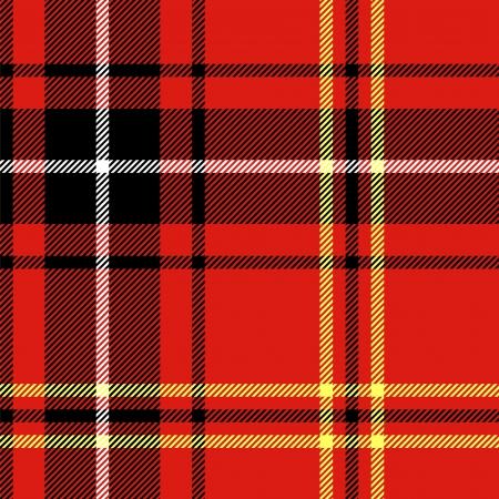 Tartan traditionnelle damier tissu sans couture britannique, noir et rouge