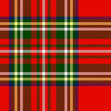 tartan: Traditional scottish tartan fabric seamless pattern in red and green, vector