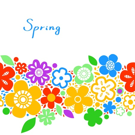Bright colorful floral spring seamless background, vector Stock Vector - 18366724