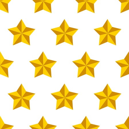 metal pattern: Shiny golden military stars on white seamless pattern, vector