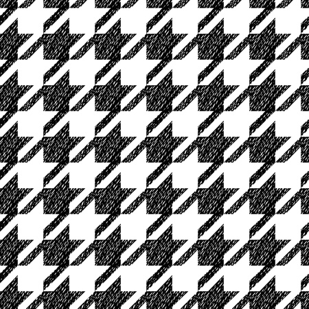 mod: black and white classic seamless pattern, vector
