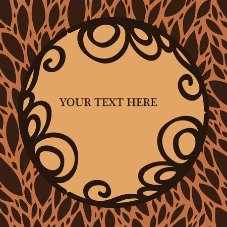 Elegant vignette frame on a foliage background with a place for your text or photo, vector Vector