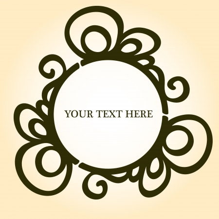 Elegant vignette frame with a place for your text or photo, vector Vector