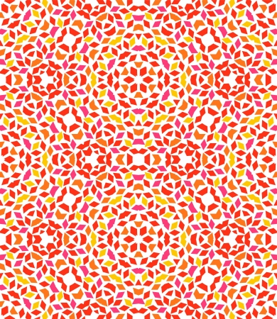 symmetrical design: Abstract colorful kaleidoscope seamless pattern in shades of red, vector