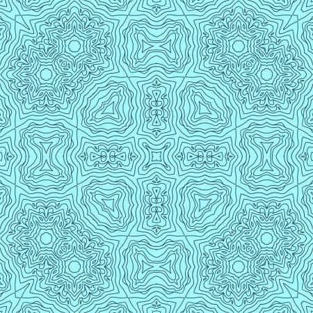 papel tapiz turquesa: Patrón abstracto sin fisuras caleidoscópico en azul, vector