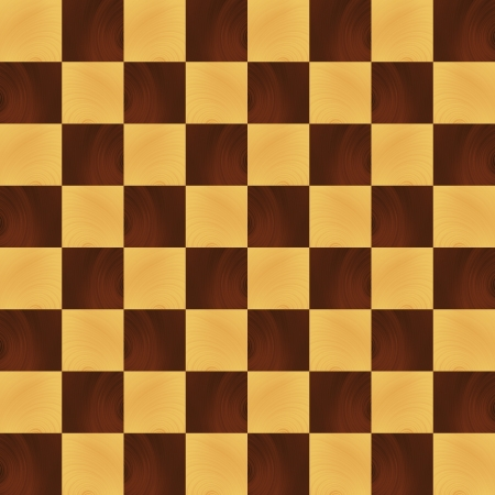 checker: Wooden realistic chessboard vector background