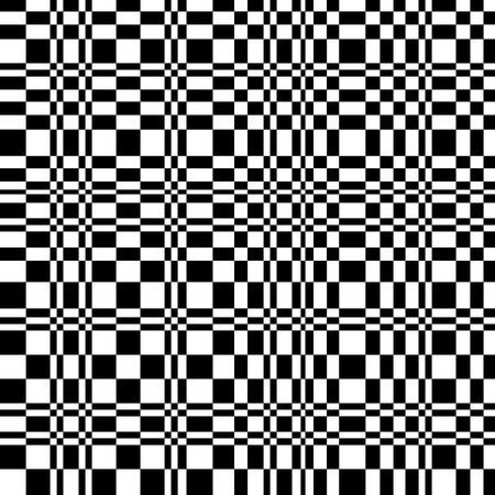 Abstrakt kariert schwarz und weiß nahtlose Muster Vektorgrafik