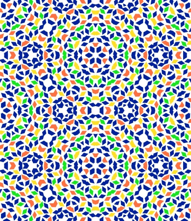 Abstract colorful kaleidocopic seamless pattern