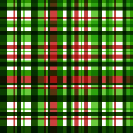 Colorful green checkered fabric seamless pattern, vector Vector