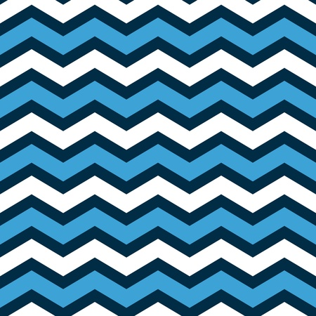 Abstract geometric chevron seamless pattern in blue and white, vector Vector