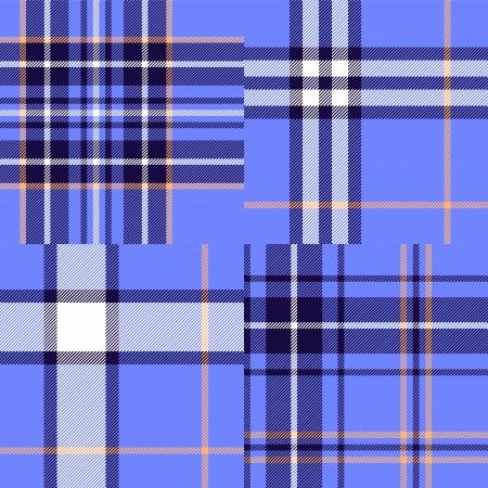 Abstract geometric tartan fabric seamless pattern in blue Stock Vector - 19311405