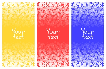 Abstract bright geometric colorful banners set Vector