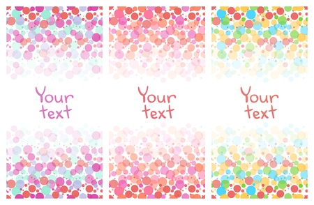 pink bubbles: Abstract geometric colorful banners set on white Illustration