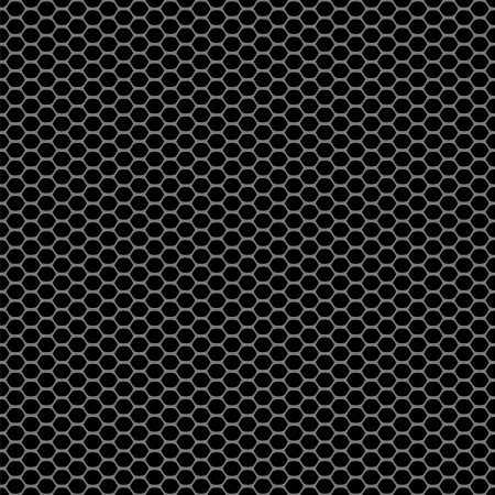 hex: Black carbon abstract geometric seamless pattern, vector Illustration
