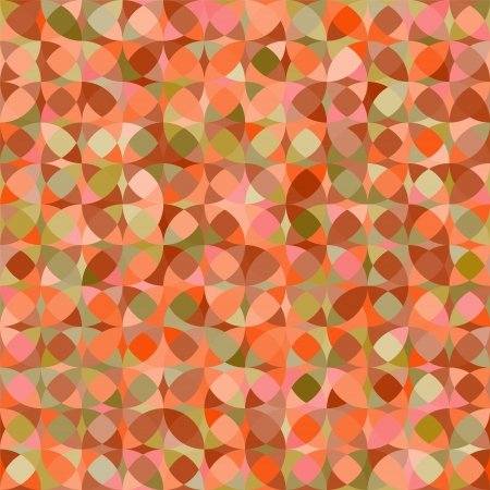 Abstract geometric colorful seamless pattern in orange, vector