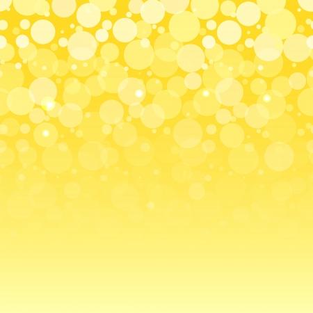 白泡黄色の水平シームレス パターン ベクトルします。  イラスト・ベクター素材