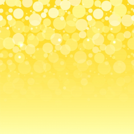 White bubbles on yellow horizontal seamless pattern, vector Illustration