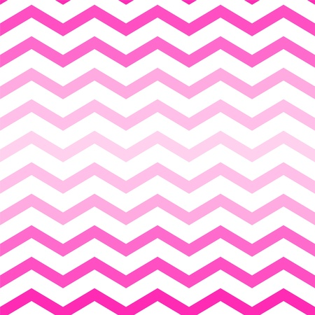 Shades of neon pink chevron seamless pattern on white