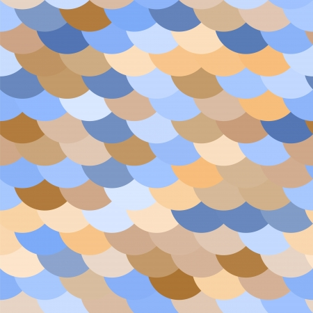 snake skin pattern: Colorful fish or snake skin scale seamless pattern in blue and brown