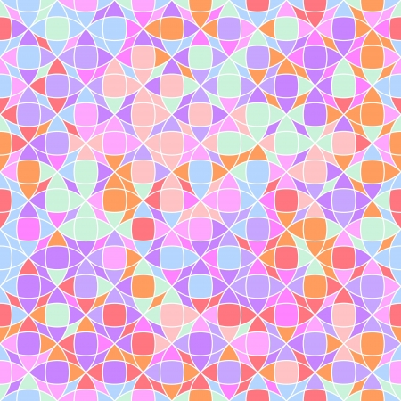 Abstract geometric mosaic in bright colors seamless pattern Vector