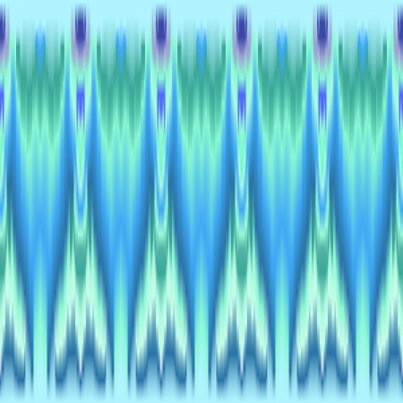 ikat: Blue and green colorful ethnic seamless pattern