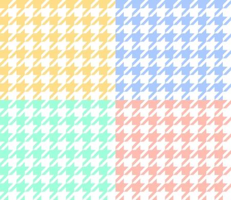 Undershoot fabric in pastel colors seamless pattern set Vector