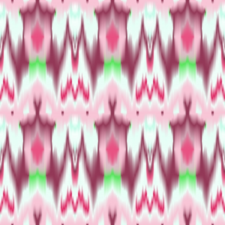 Colorful tie dye ethnic geometric fabric seamless pattern in pink and white, vector Vector