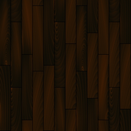 Dark wooden floor realistic seamless background, vector Vector