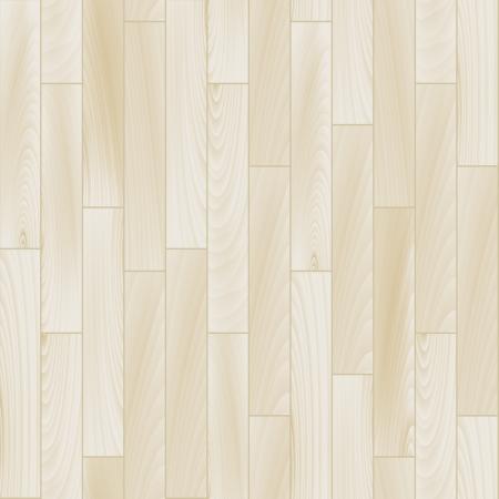 현실적인 흰색 나무 바닥 원활한 패턴, 벡터 일러스트