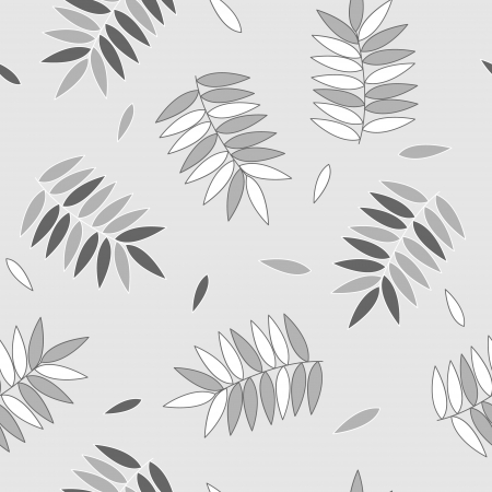Falling leaves in shades of grey subtle seamless pattern, vector Stock Vector - 22026662