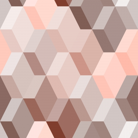 ピンク、茶色、ベクトルで抽象的な幾何学的なシームレス パターン  イラスト・ベクター素材