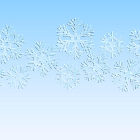 fiambres: Copos de nieve de papel patrón de Navidad azul y blanco transparente Vectores